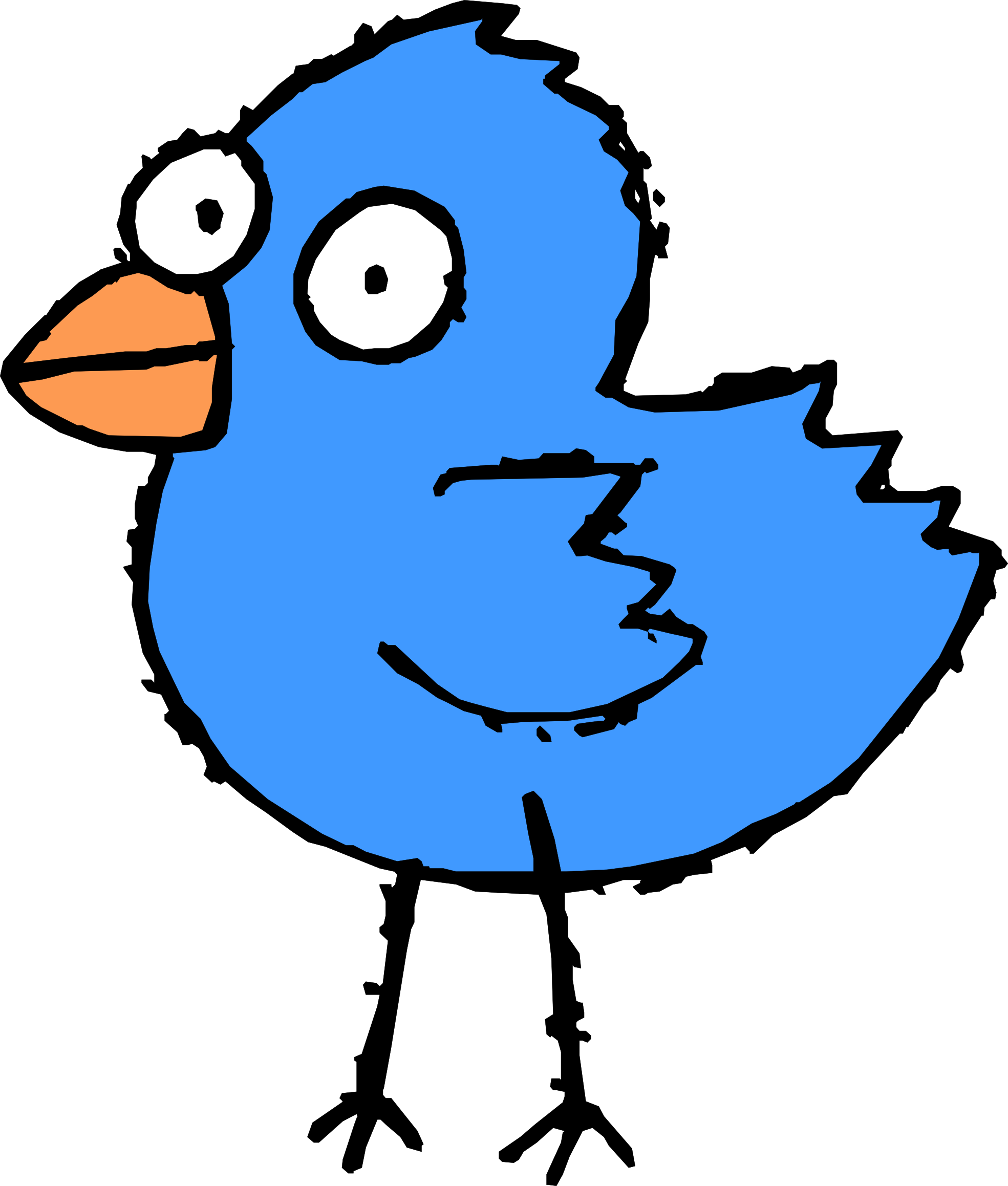 And Twitter Cartoon Black White Drawing Bird PNG Image