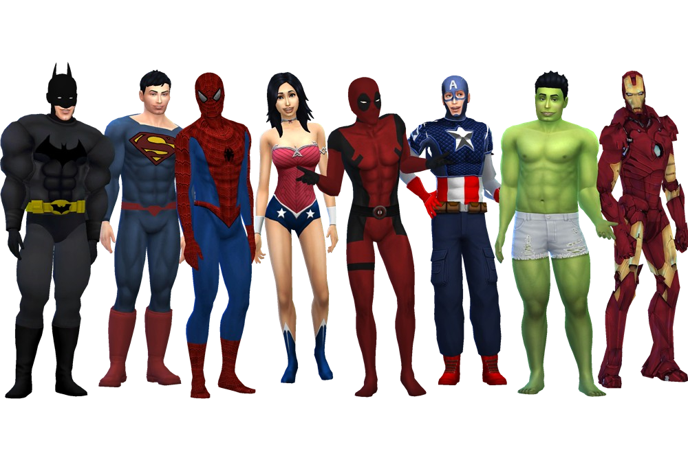 Sims Batman Superhero Fictional Character Free Download Image PNG Image