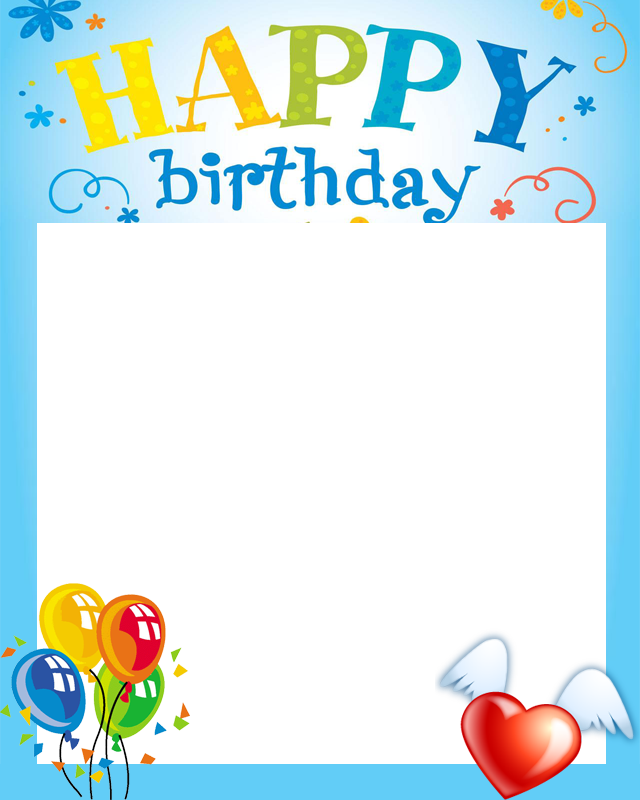 Picture Card! Frames Birthday Cake Frame Happy PNG Image