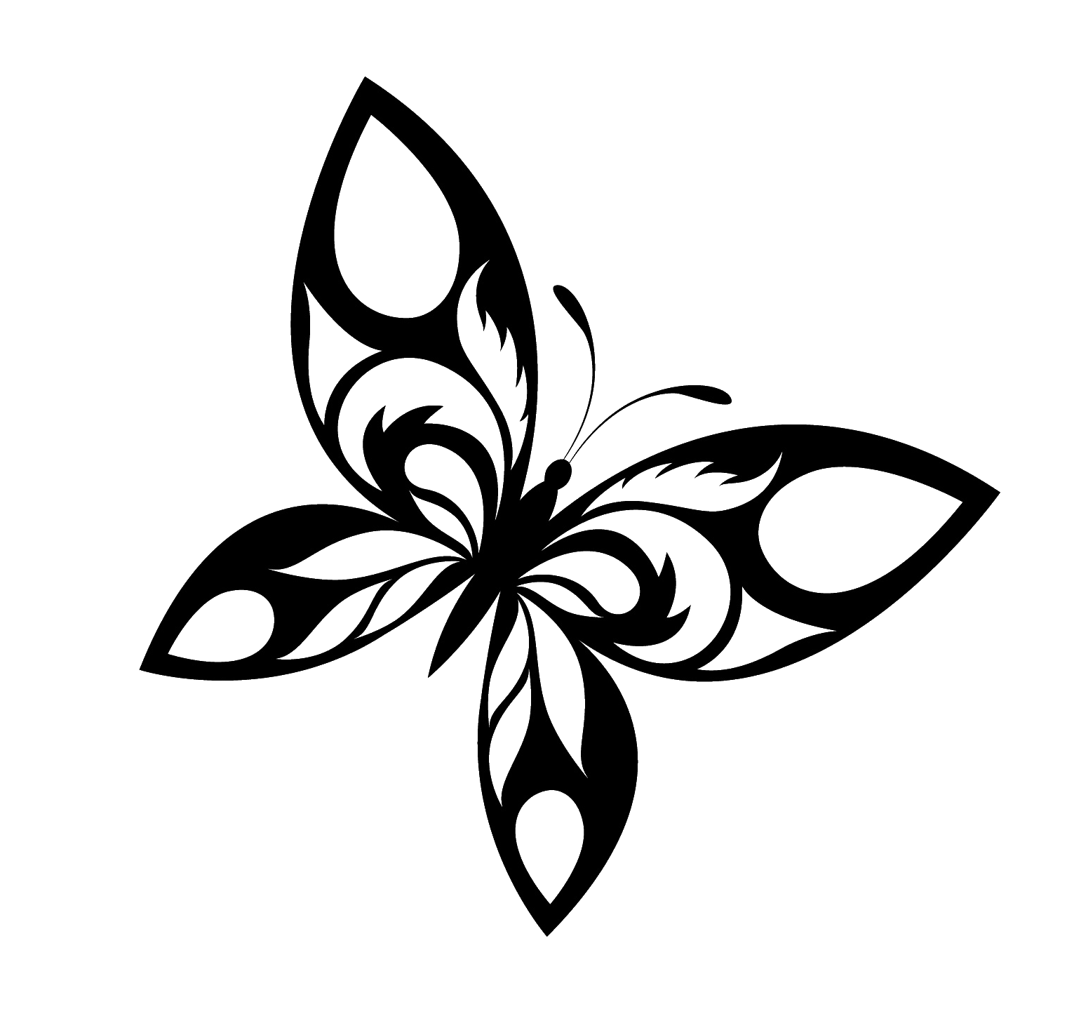 Download Butterfly Tattoo Designs Free Download Png HQ PNG