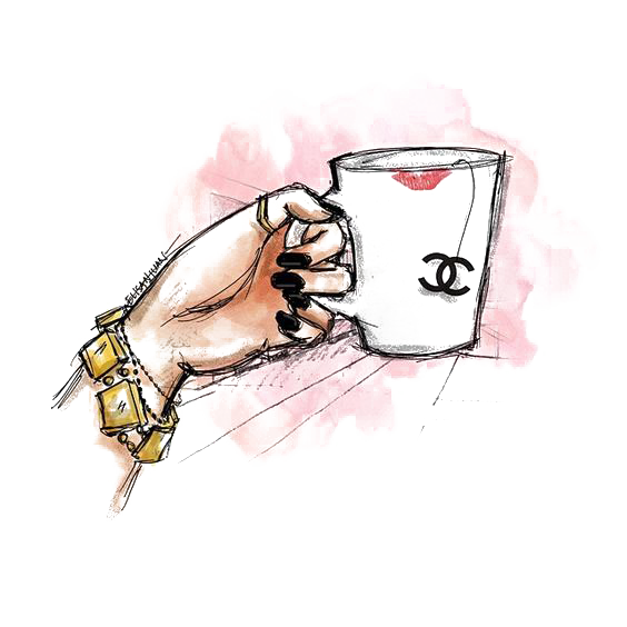 Cup Chanel Illustration Drawing PNG Download Free PNG Image