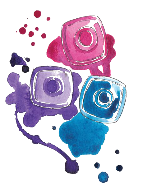 Watercolor What Color Nail Cosmetics Polish Painting PNG Image