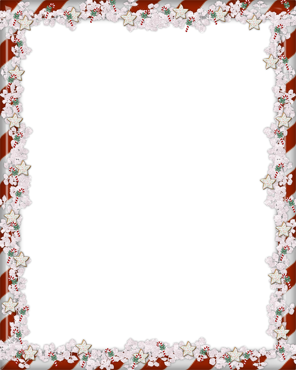 Frame Flower Border Christmas Exquisite Free Clipart HD PNG Image