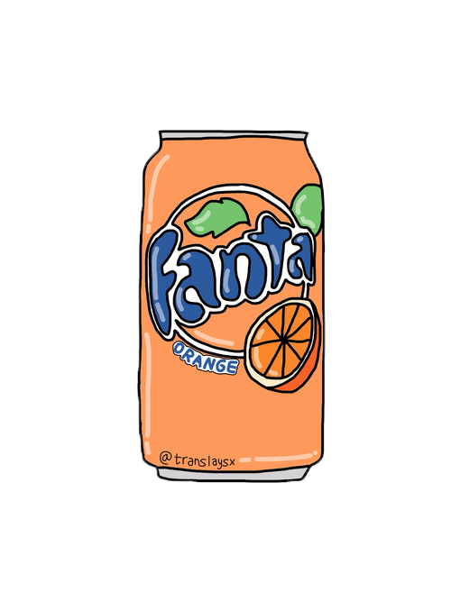 Fizzy Drawing Coca Fanta Orange Cola Coca-Cola PNG Image