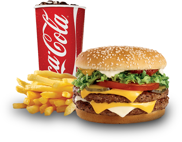 King Sandwich Hamburger Fries Veggie French Burger PNG Image