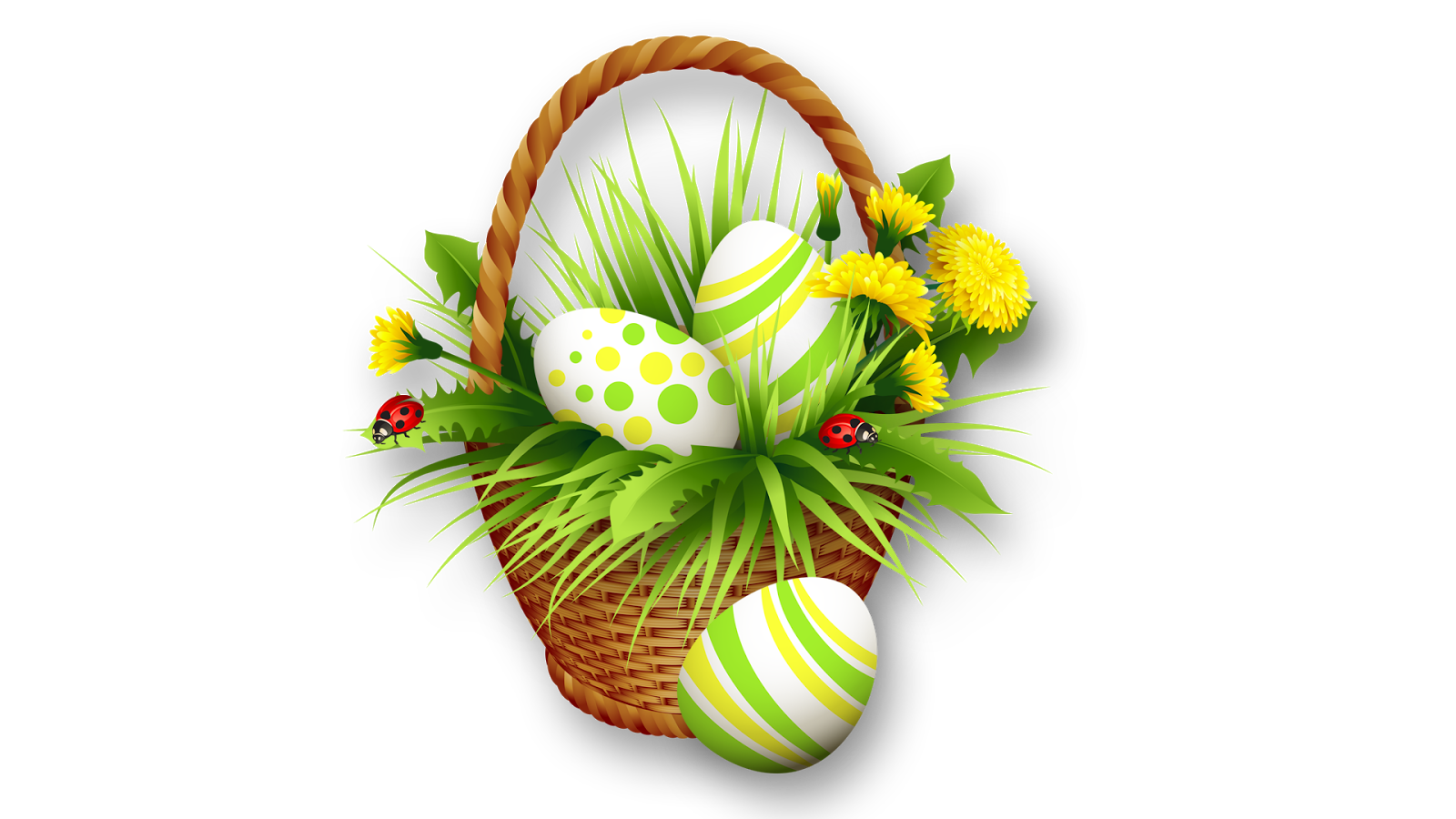 Easter Basket Bunny Png Clipart PNG Image