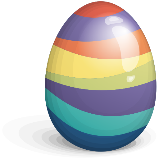 Beautiful Easter Eggs PNG Image