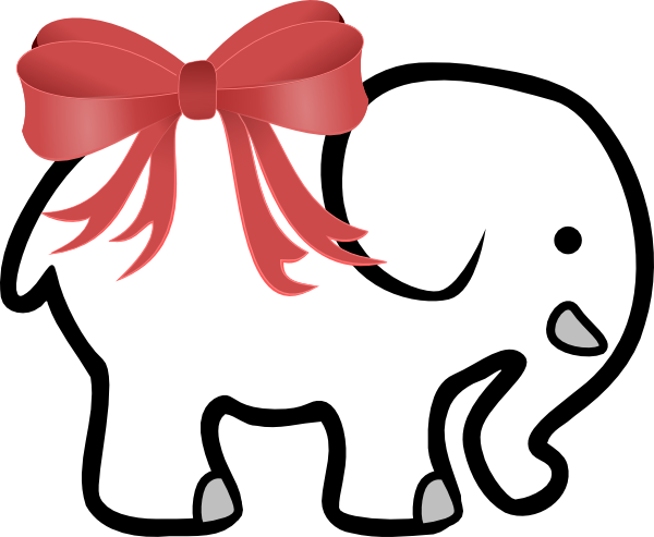 White Elephant Photo PNG Image