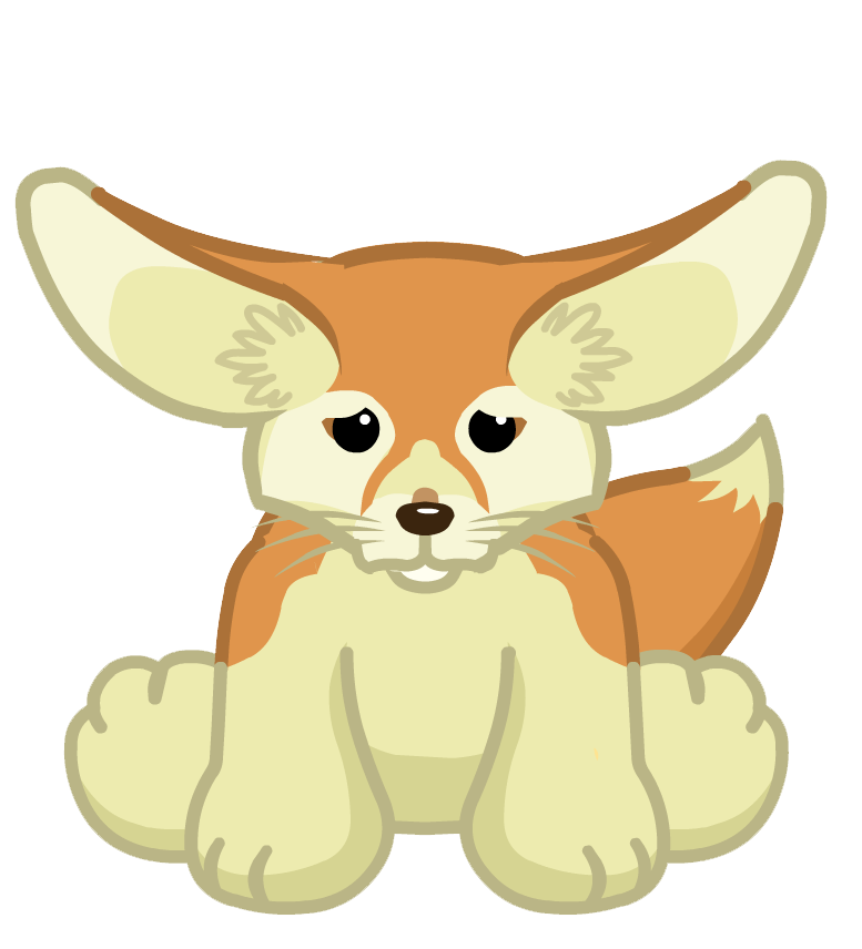 Fennec Fox Transparent Background PNG Image