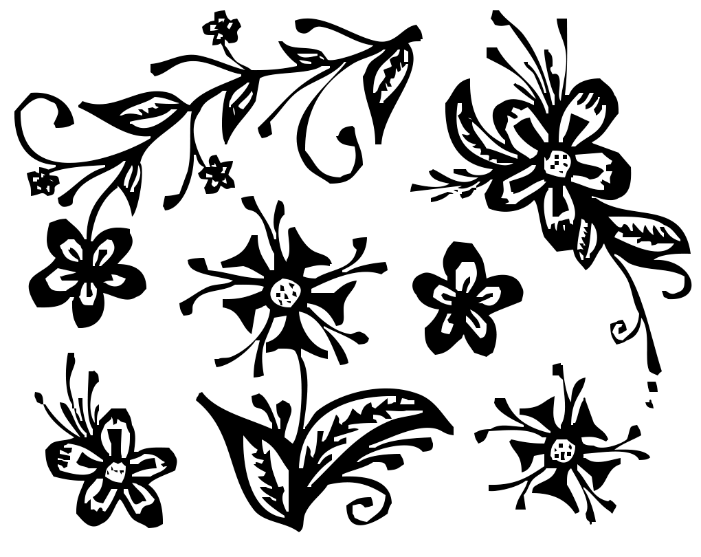 Flower Drawing Illustration PNG Image High Quality PNG Image