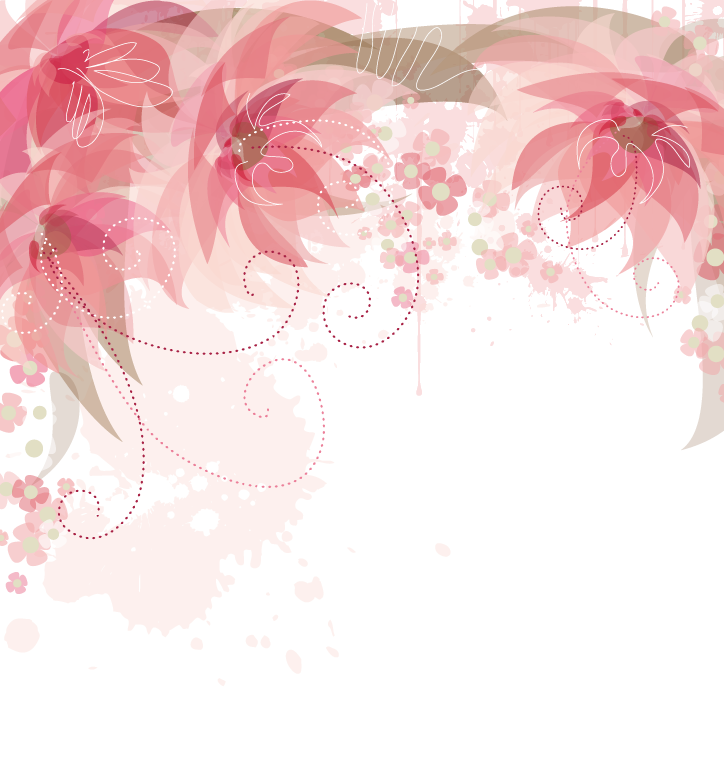 Pink Flowers Flower Border PNG Free Photo PNG Image