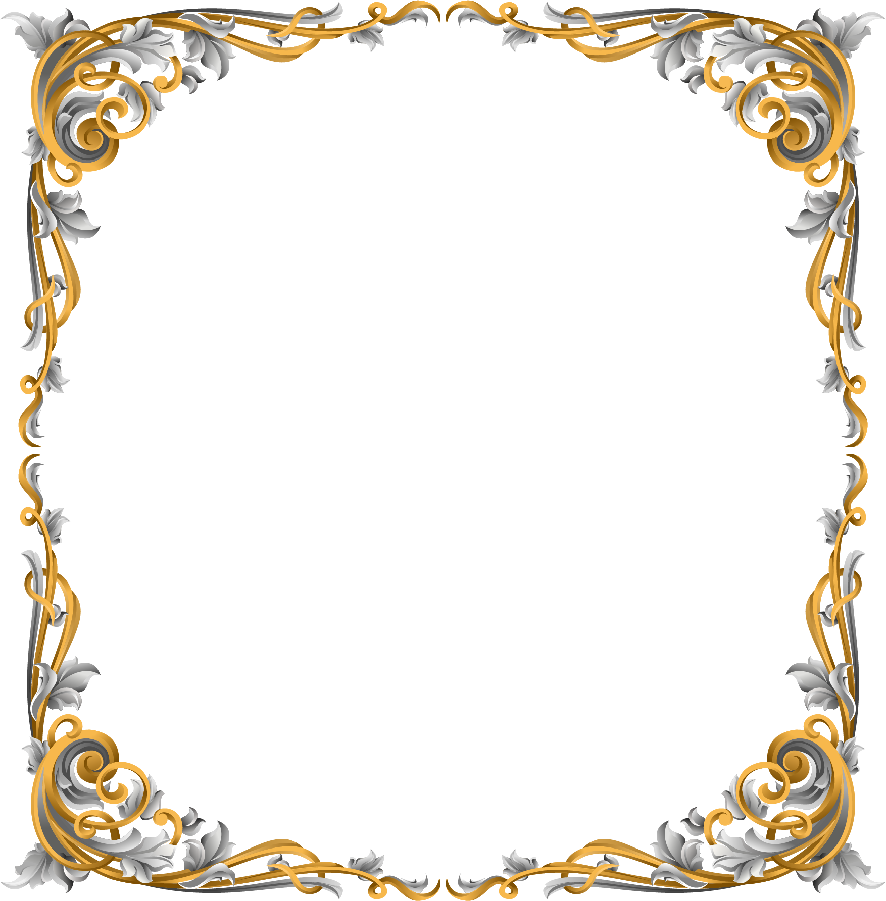Picture Flower Painted Frame Ornament Hand Vector PNG Image