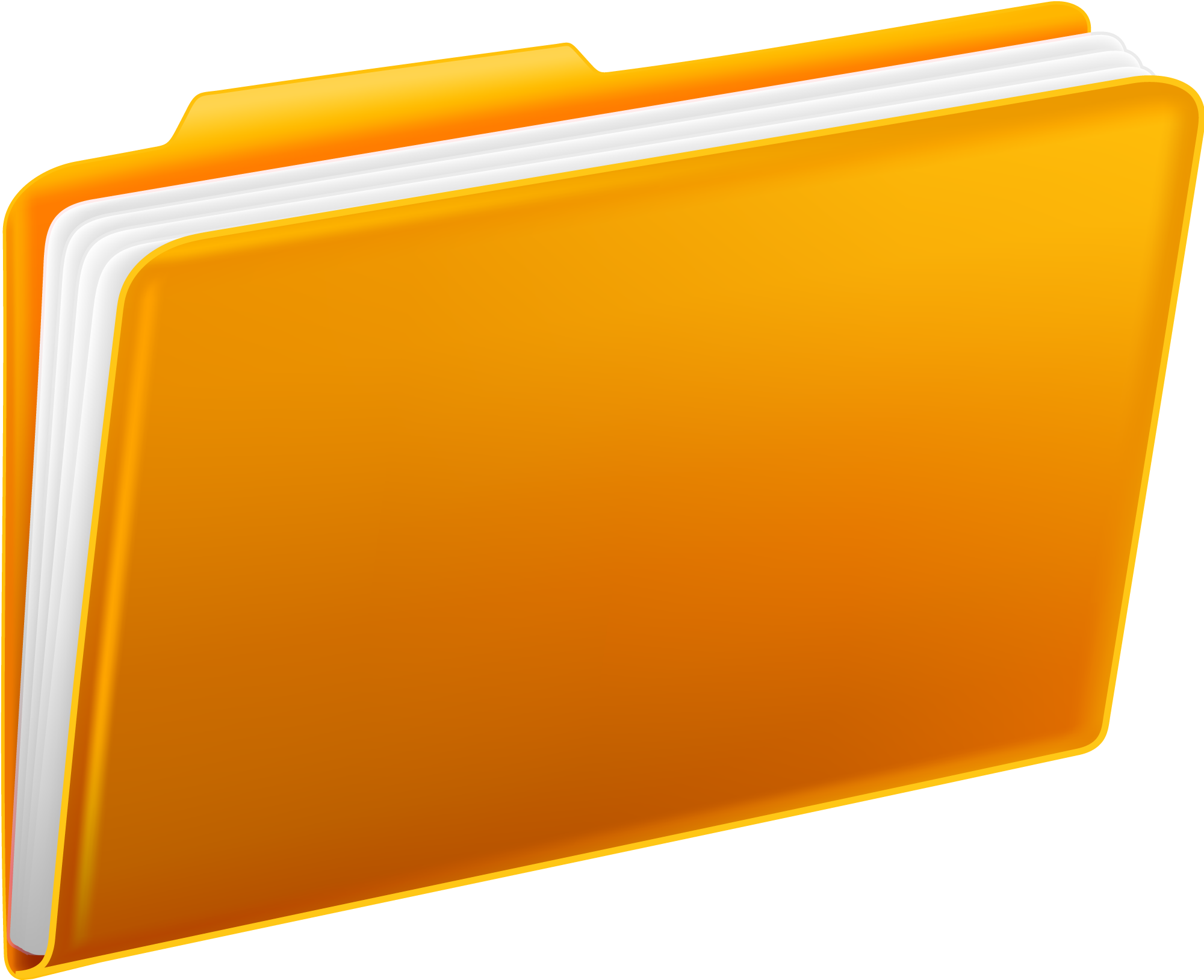 Yellow Folders PNG Image