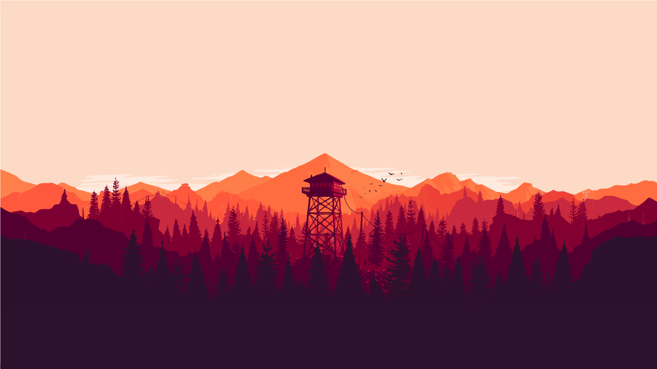Television Firewatch Campo Wallpaper Desktop 4K Santo PNG Image