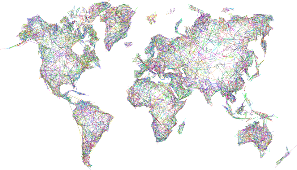Abstract World Map Picture Free Download Image PNG Image