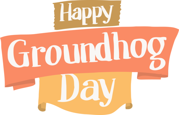 Groundhog Day Text Font Line For Quote PNG Image