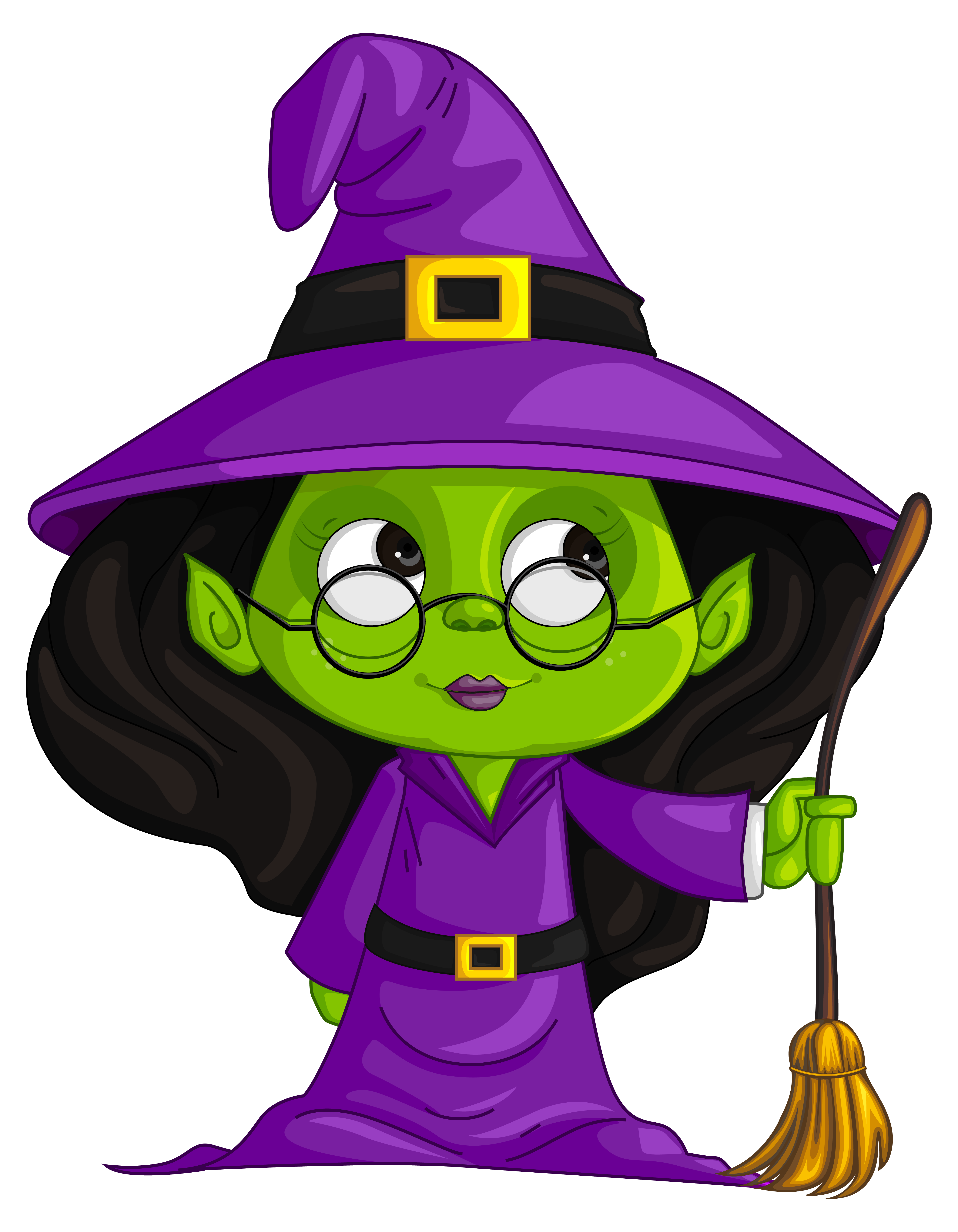 Purple Witch Witchcraft Free Clipart HQ PNG Image