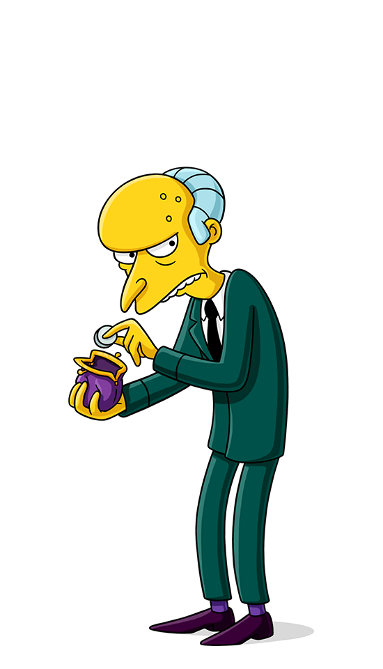 Homer Standing Smithers Behavior Waylon Human Mr PNG Image
