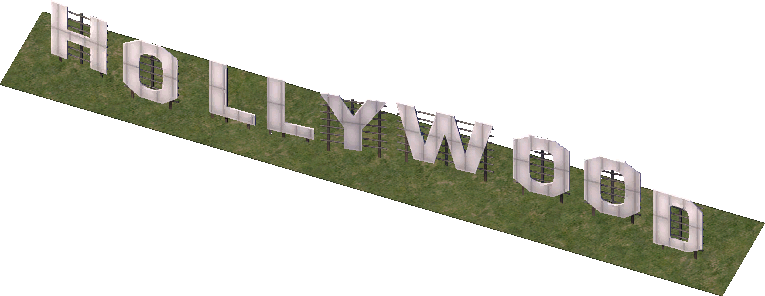 Hollywood Sign Image PNG Image