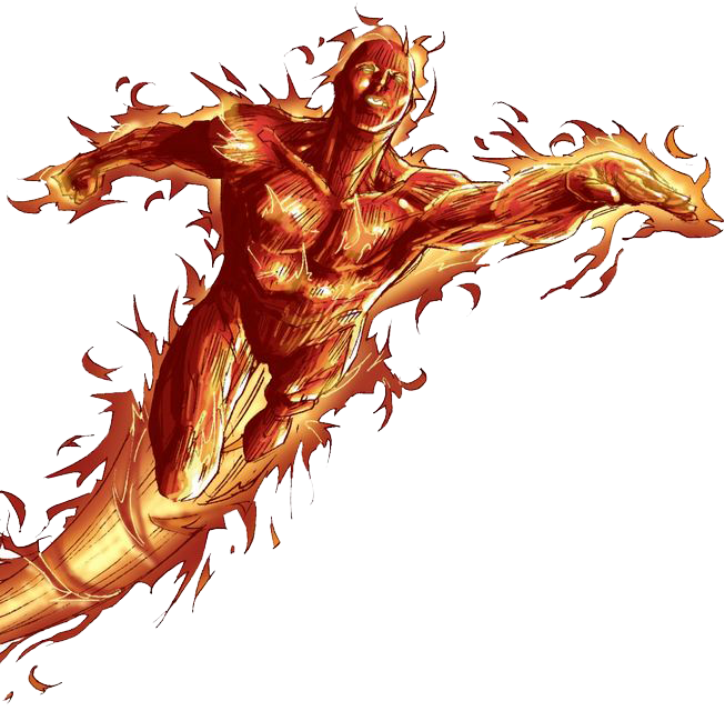 Human Torch Photo PNG Image