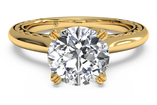 Download Gold Ring With Diamond HQ PNG Image