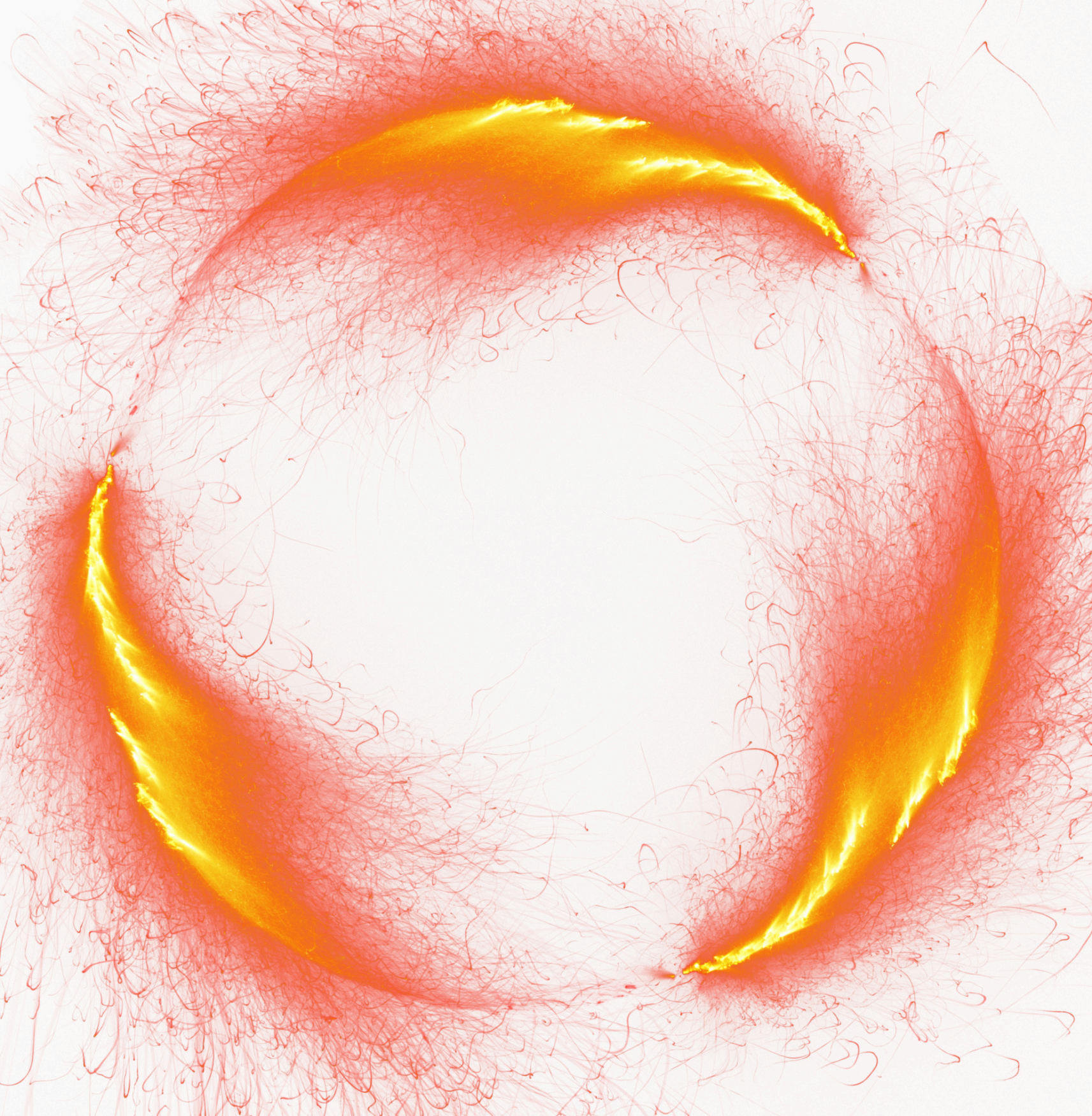 Burst Fire Light Flame Of Border Round PNG Image