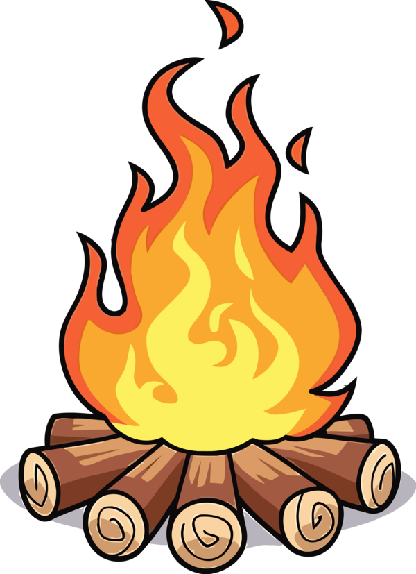 Lohri Cartoon Flame Fire For Happy Party Near Me PNG Image