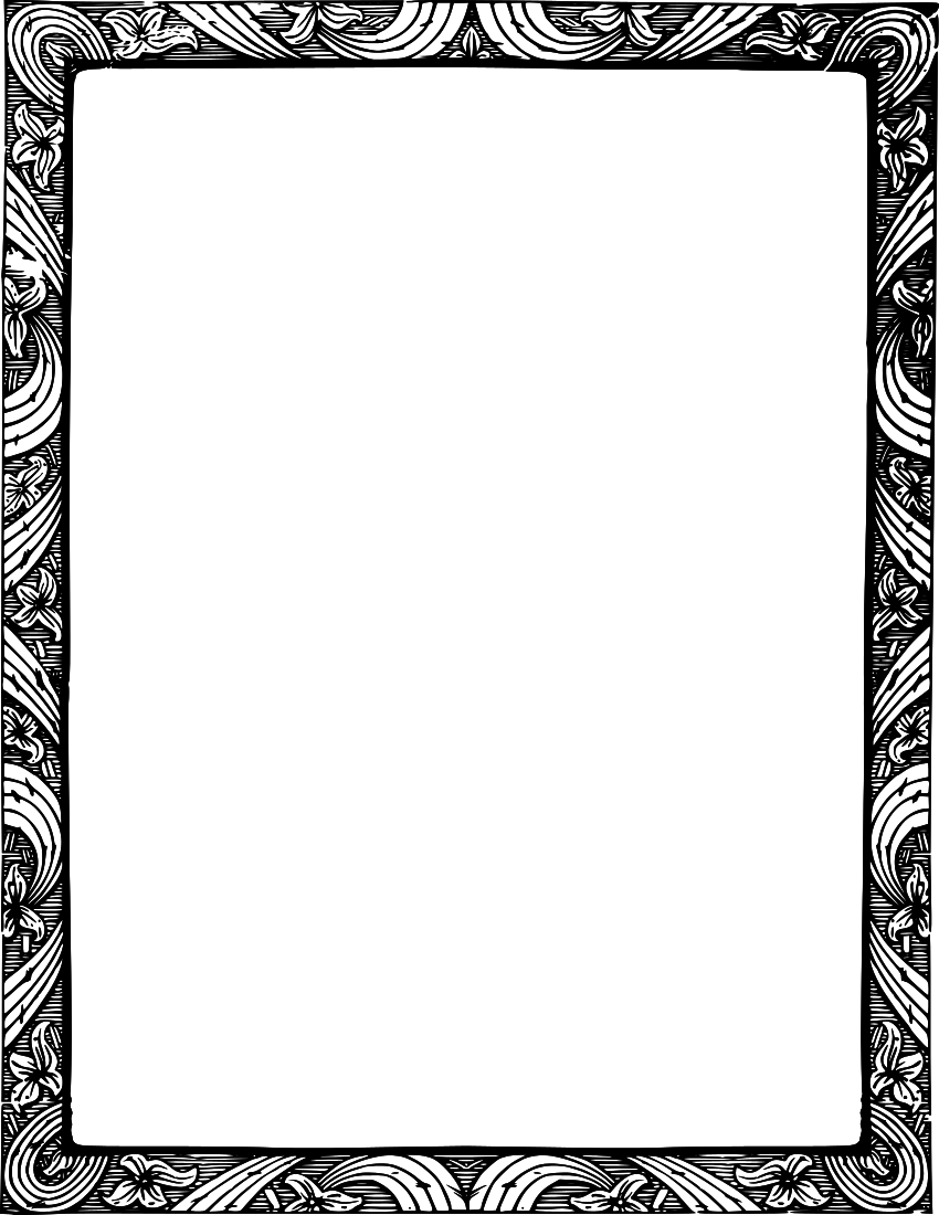 White Flower Frame Classic HQ Image Free PNG PNG Image