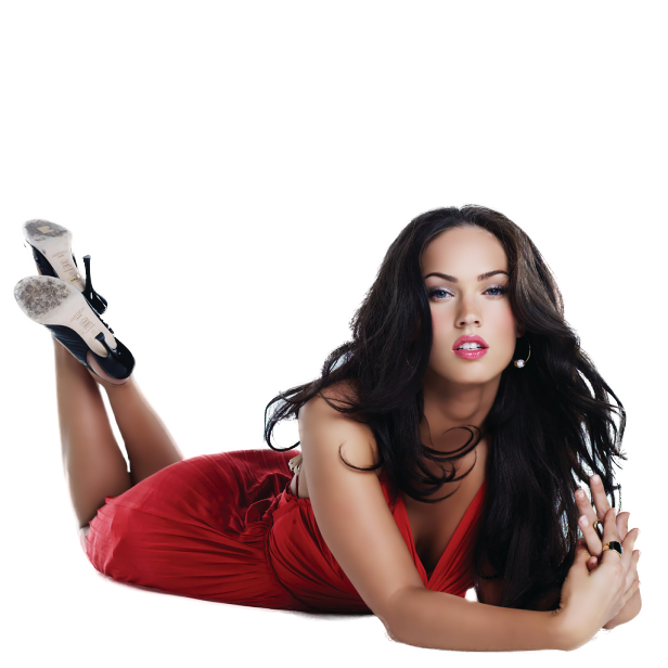 Megan Fox Transparent Background PNG Image