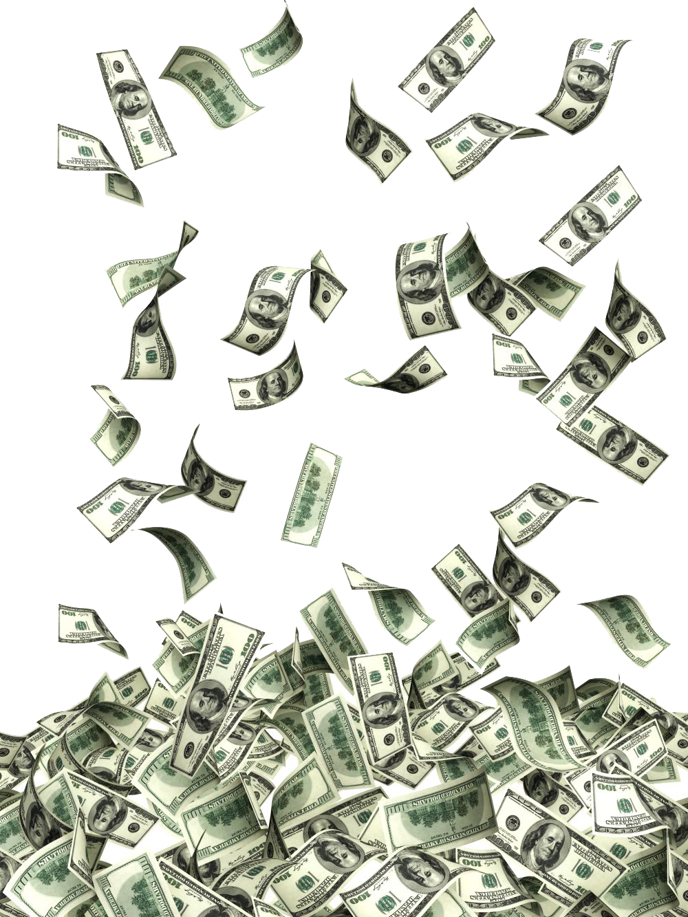 Flying Dollars Photos PNG Image