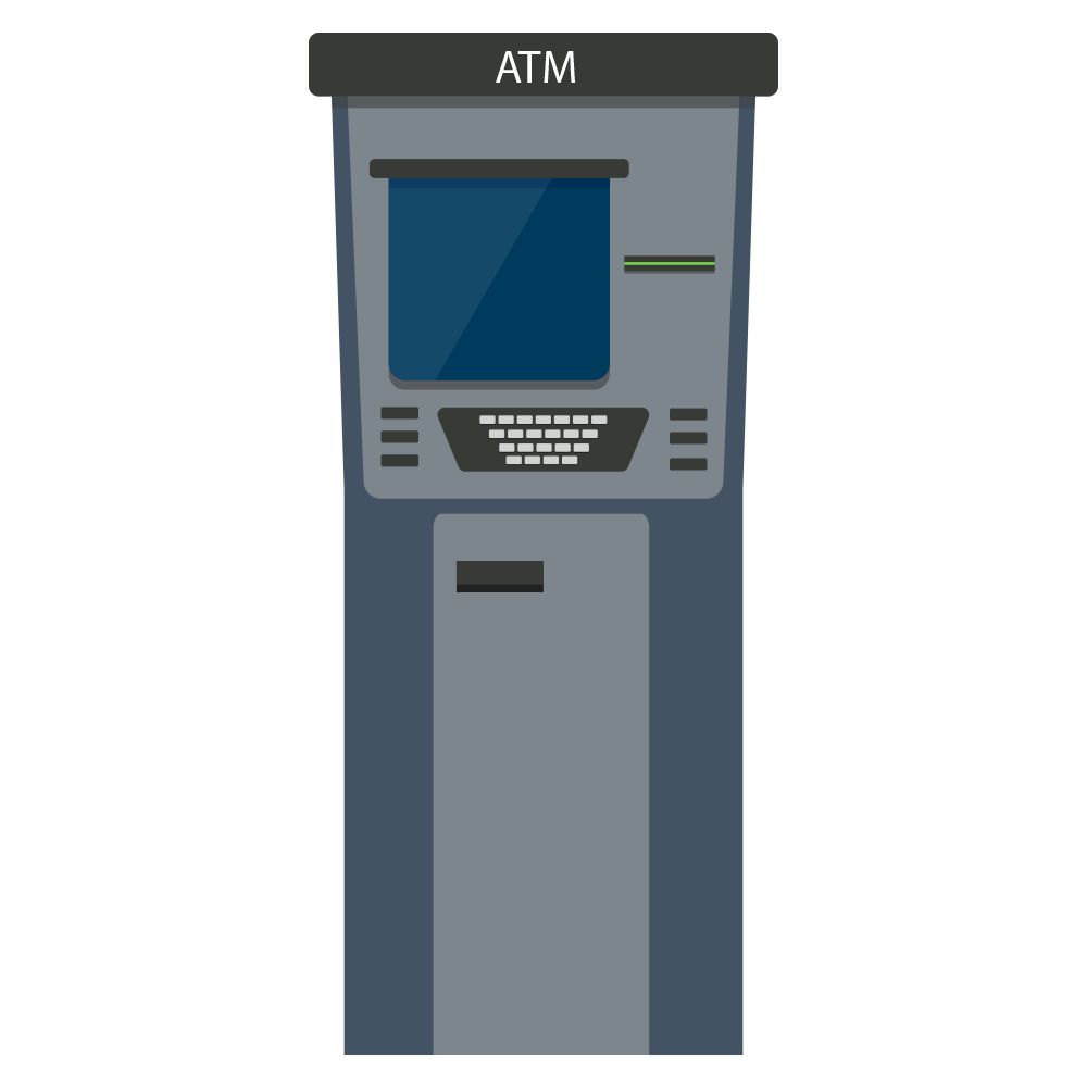 Service Money Atm Bitcoin Machine Teller Automated PNG Image