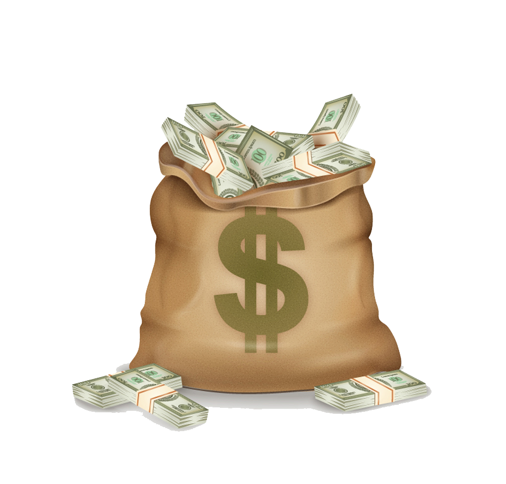 Pocketbook Money Dollar Sign Bag Vector Bank PNG Image