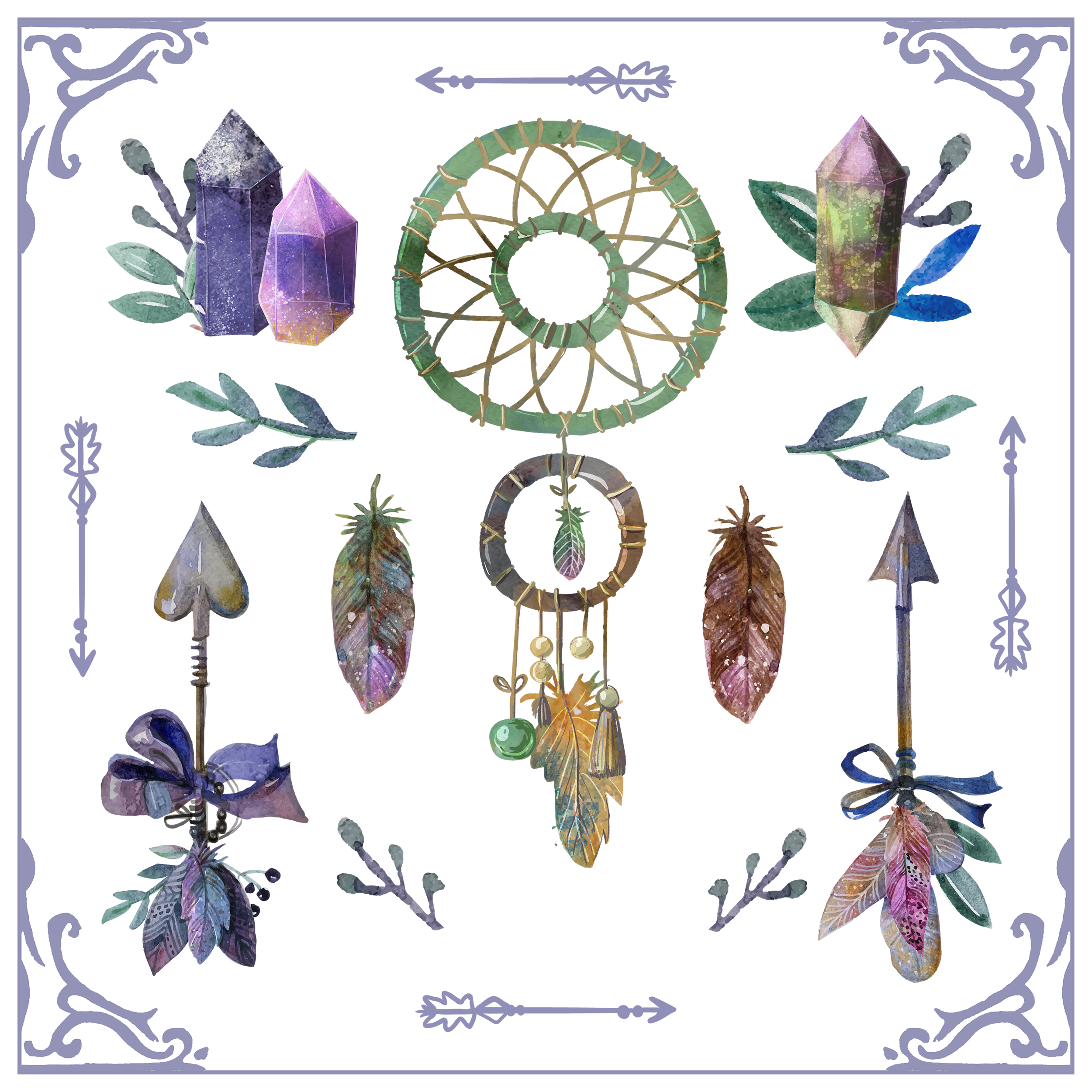 Dreamcatcher Boho-Chic Bohemianism Boho Vector Graphics Necklace PNG Image