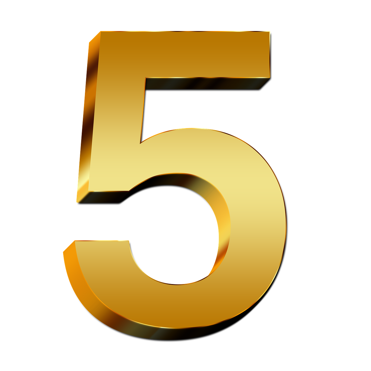 5 Number Png PNG Image
