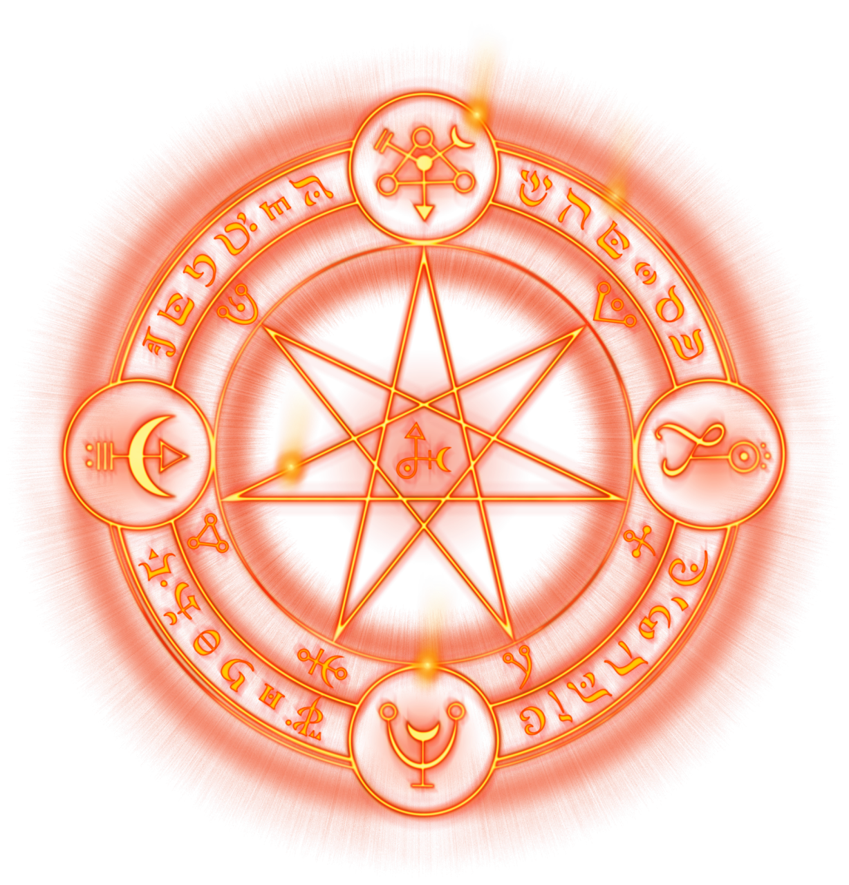 Orange Symbol Spell Magic Circle PNG File HD PNG Image