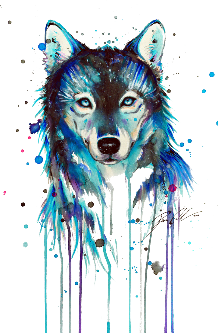 Tattoo Art Arctic Dog Dark Wolf Drawing PNG Image