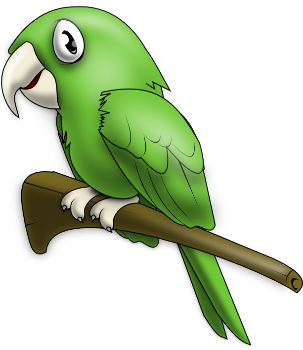 Cute Parrot PNG Image