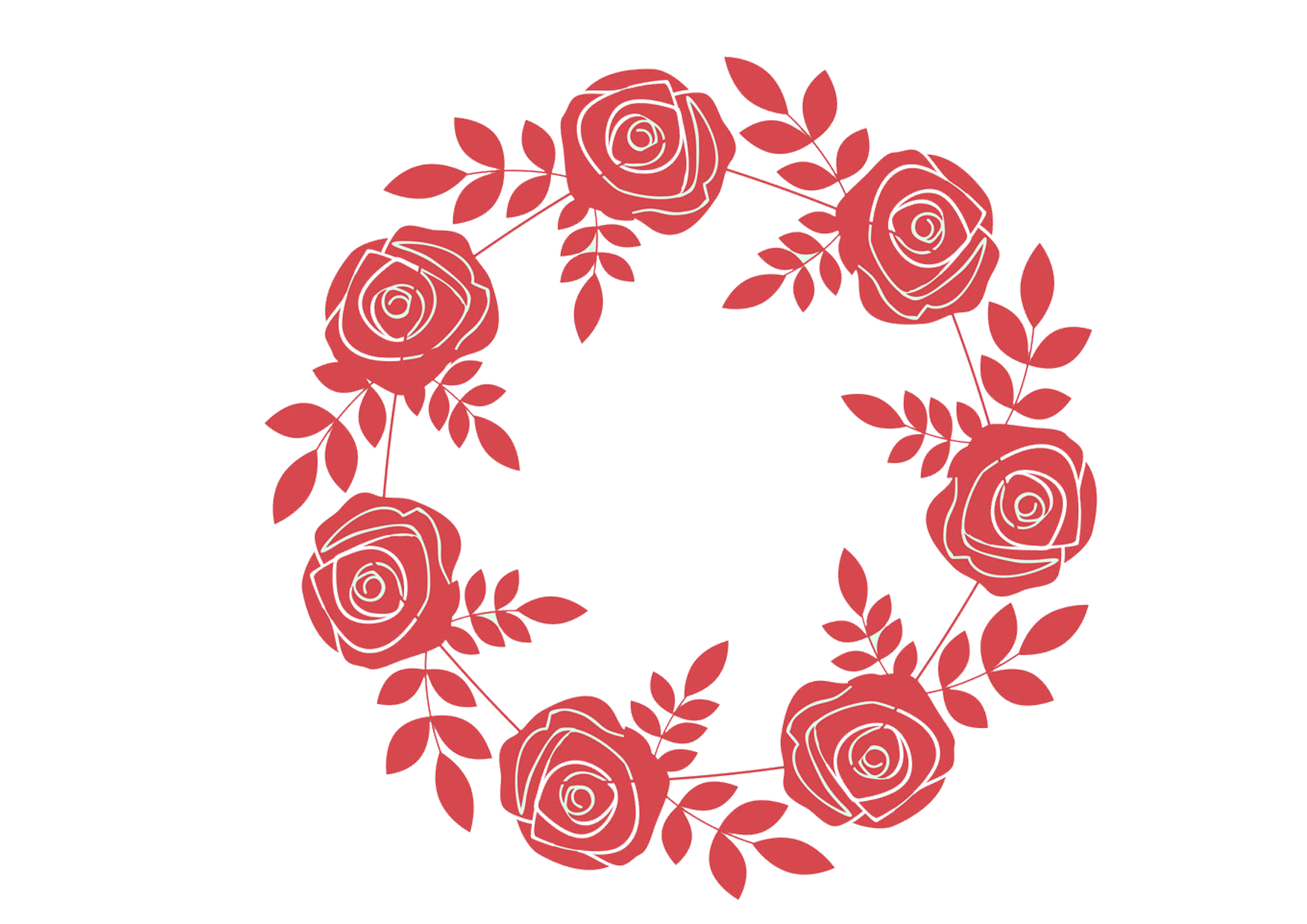 Flower Rose Photography Royalty-Free Frame Round Stock PNG Image