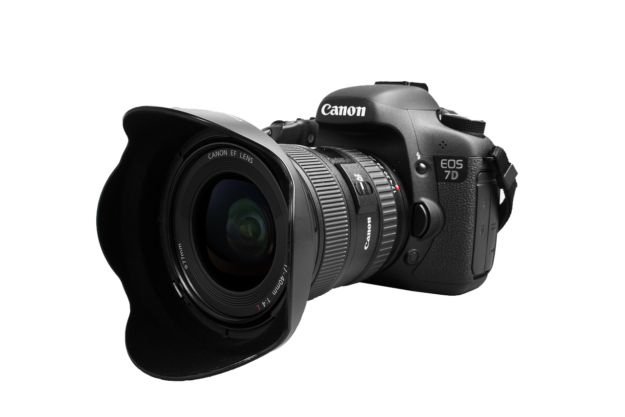 Lens 7D Angle Reflex Canon Mark Eos PNG Image
