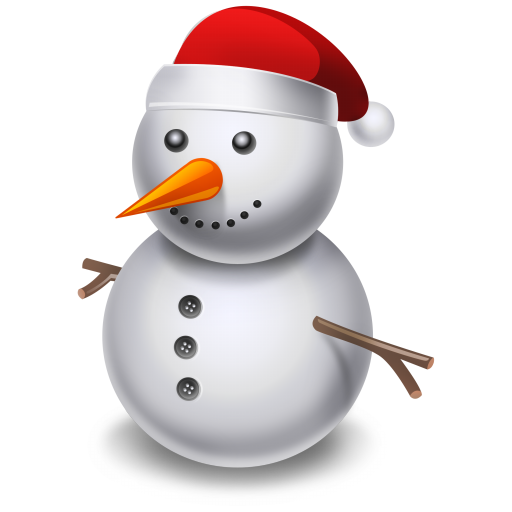 Cartoon Snowman PNG Image