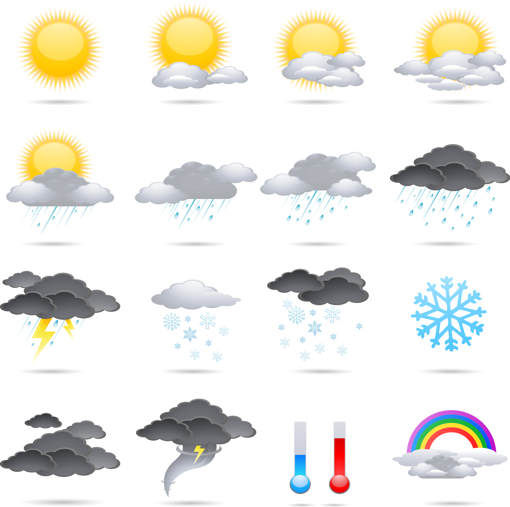 Color Meteorology Weather Vector Icon Free HQ Image PNG Image