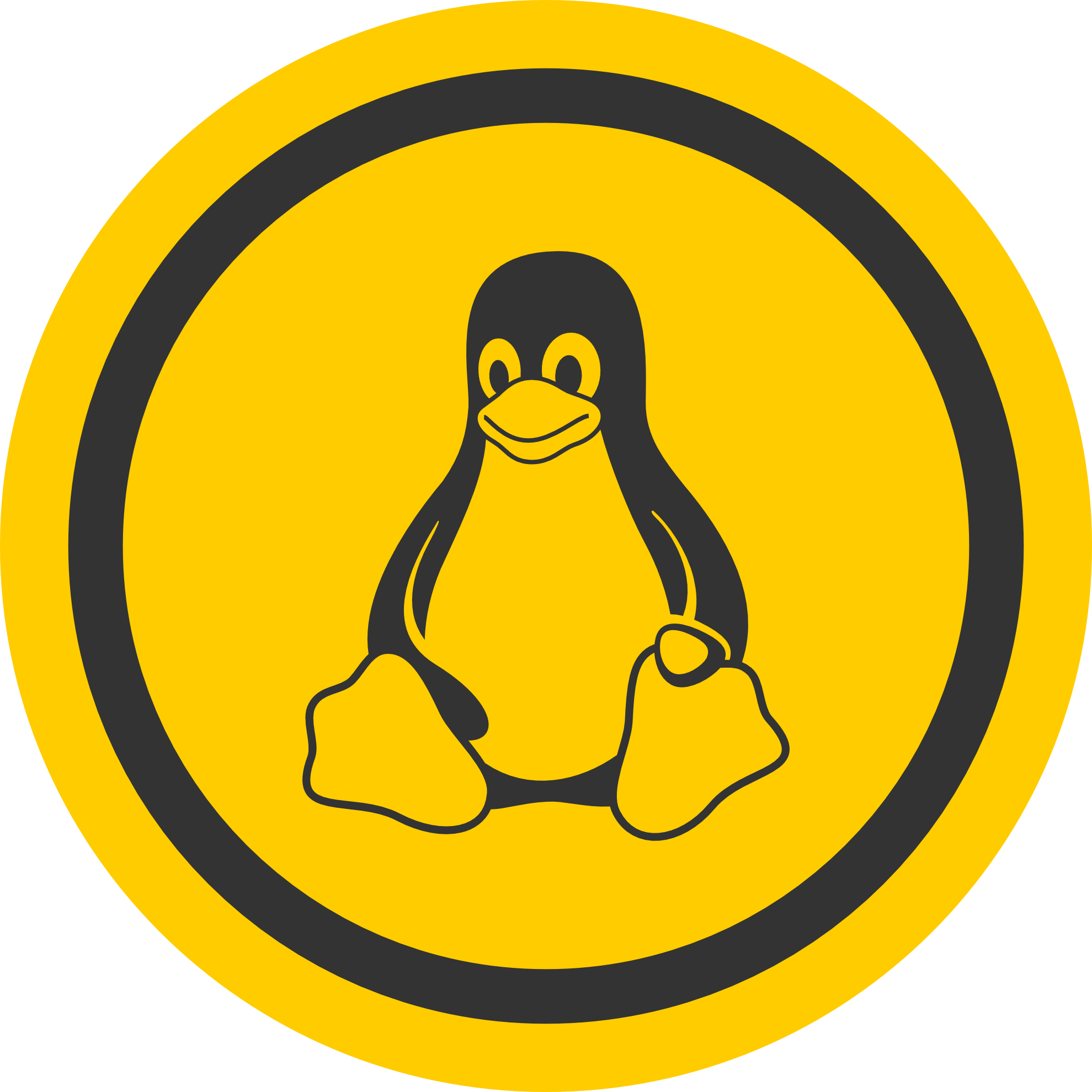 Tux Logo Operating System Linux Free Download Image PNG Image