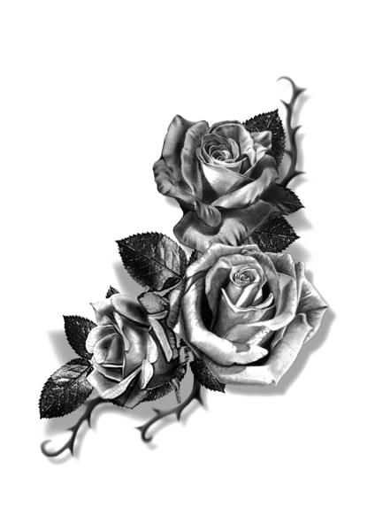 Tattoo Sketch Sleeve Forearm Rose Flash Cover-Up PNG Image