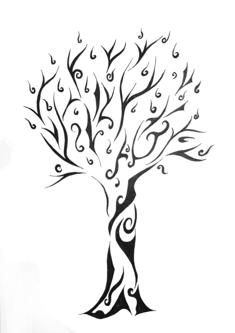 Tribe Of Life Tree Tattoo Free Photo PNG PNG Image