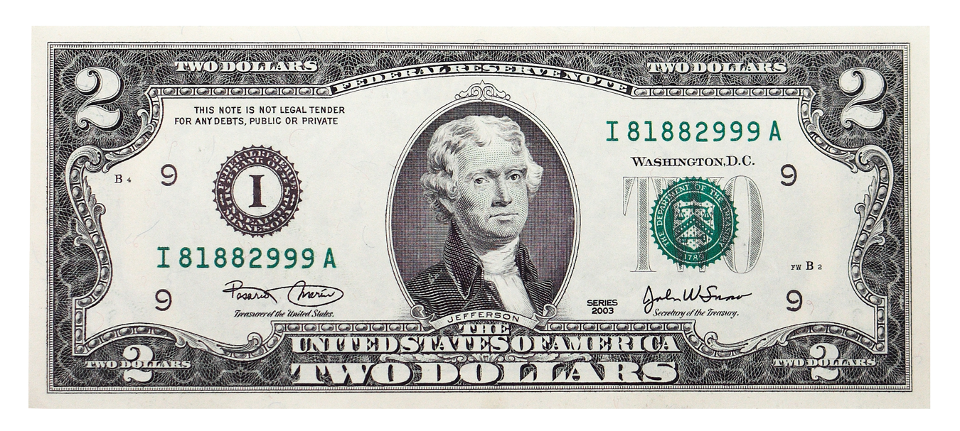 United Banknote Bill Dollar One-Dollar Two States PNG Image