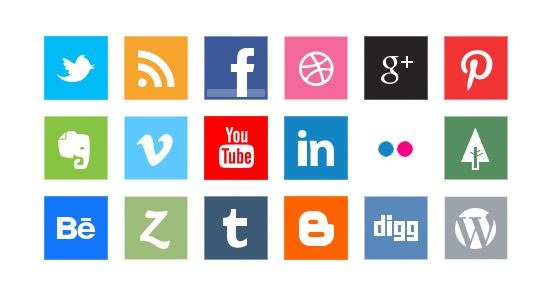 Social Icons File PNG Image