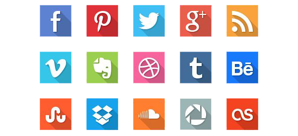 Social Icons Transparent Image PNG Image