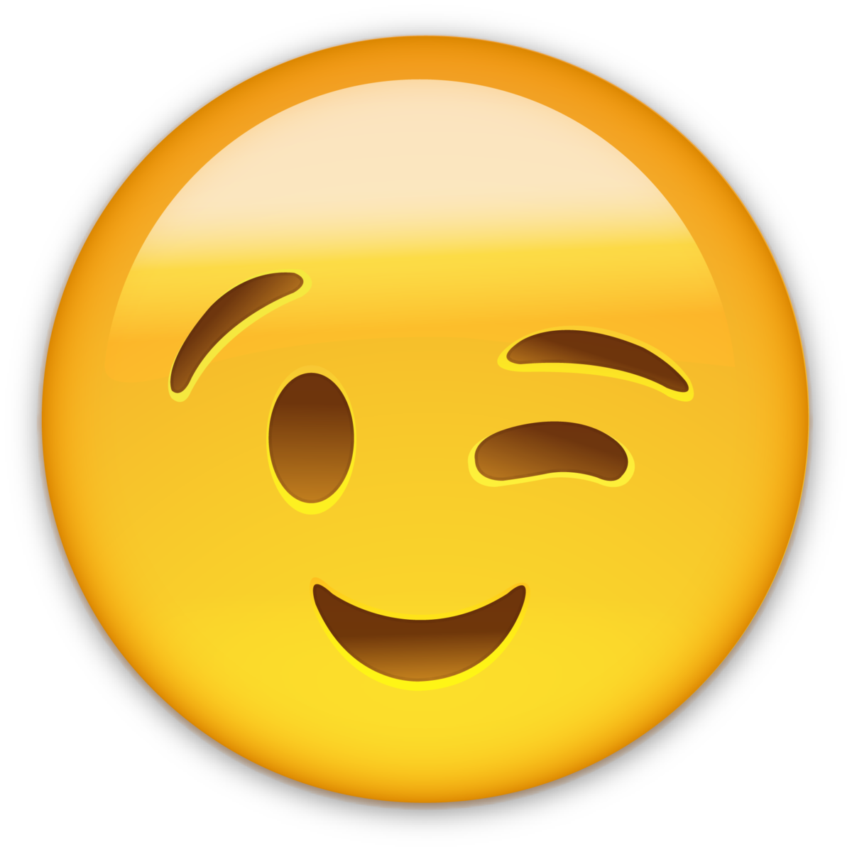 Download Emoticon Smiley Wink Smile Whatsapp Emoji ICON ...