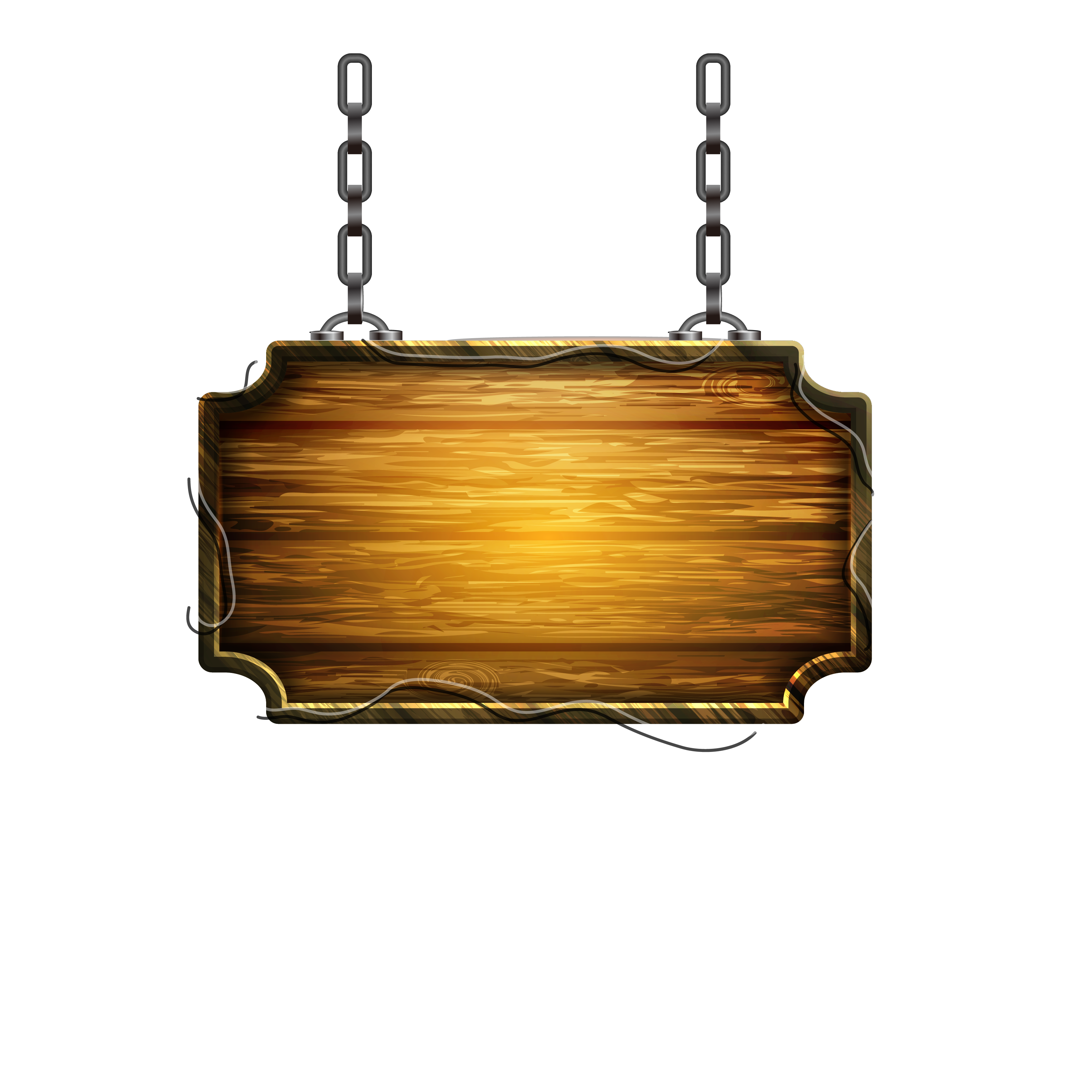 Do Illustrator Wooden Sign Locks Old Wood PNG Image