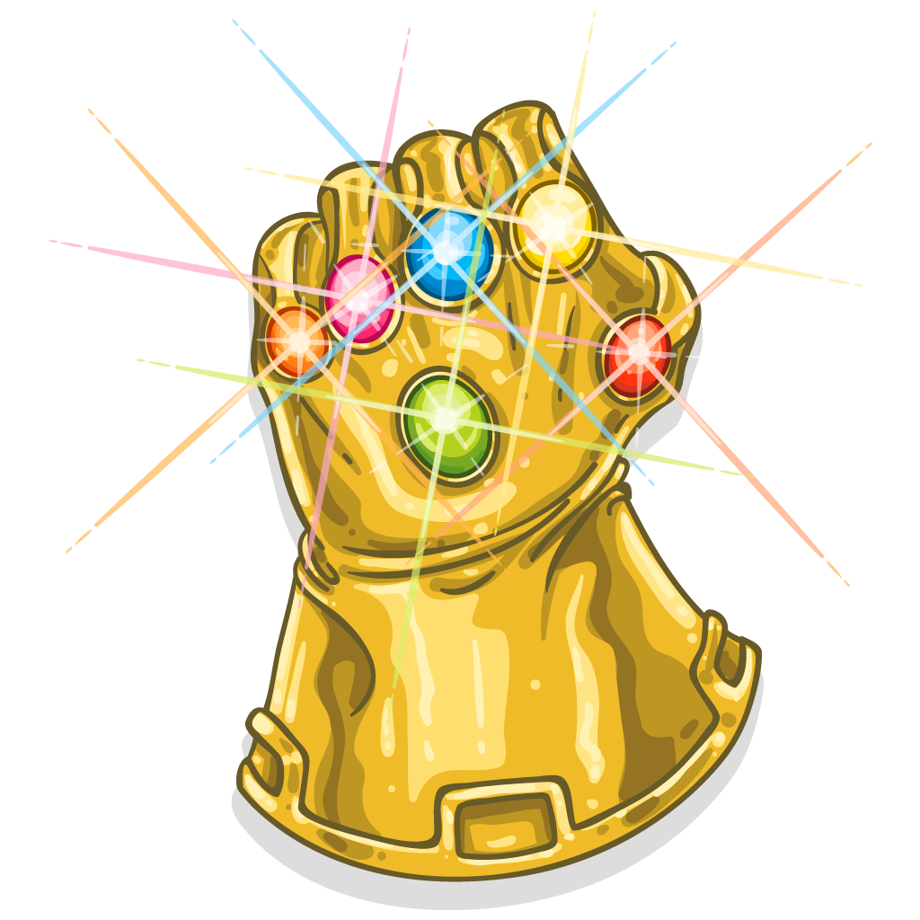 Infinity Youtube Glove T-Shirt Thanos The Gauntlet PNG Image